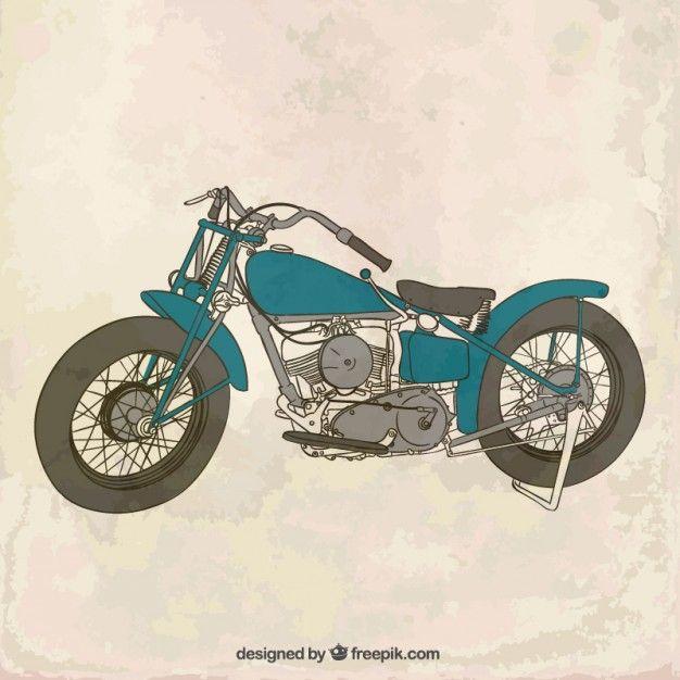 Free vector Vintage motorcycle #17143