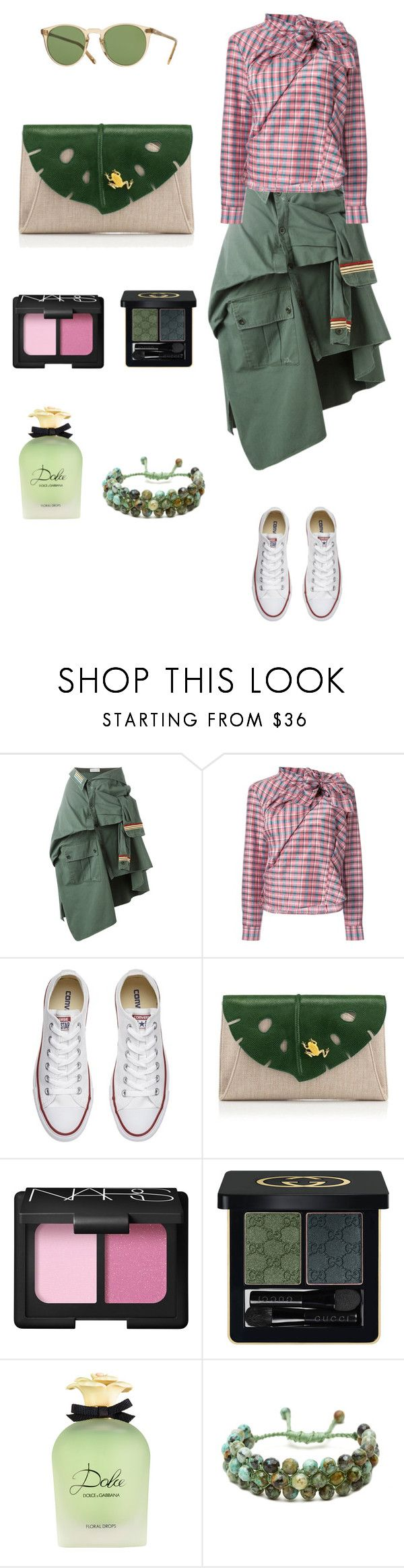 """""""Be unconventional: shirt for skirt ✌🏻"""" by valelondon ❤ liked on Polyvore featuring Faith Connexion, Isabel Marant, Converse, NARS Cosmetics, Gucci, Dolce&Gabbana, Sacred Jewels and Oliver Peoples"""