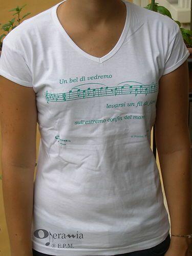 t-shirt donna Opera, Puccini, Madama Butterfly, Un bel dì vedremo