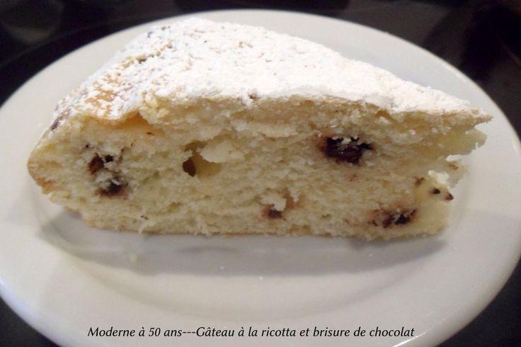 Gâteau à la ricotta et aux brisures de chocolat