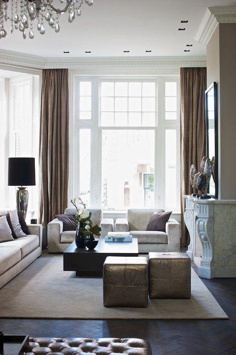 Moderne spots in plafond eric kuster design maison belle for Klassiek en modern interieur combineren