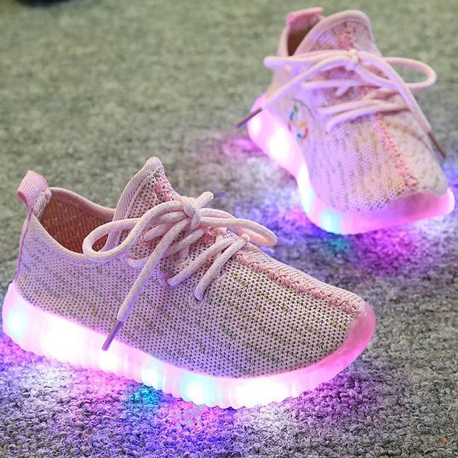 Girls Sporty LED Light Up Sneakers ( 4