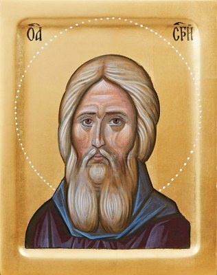 Orthodox icon of Holy Father Sergius Of Radonez