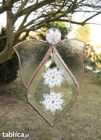 Crystal Angel Tiffany målat glas målat glas Målat glas Frivoliteter