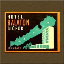 vintage luggage label, Lake Balaton, Hungary #Balaton #vintage #tourism #marketing #poster #plakat #Hungary Collection by: http://www.pinterest.com/bookpublicist/