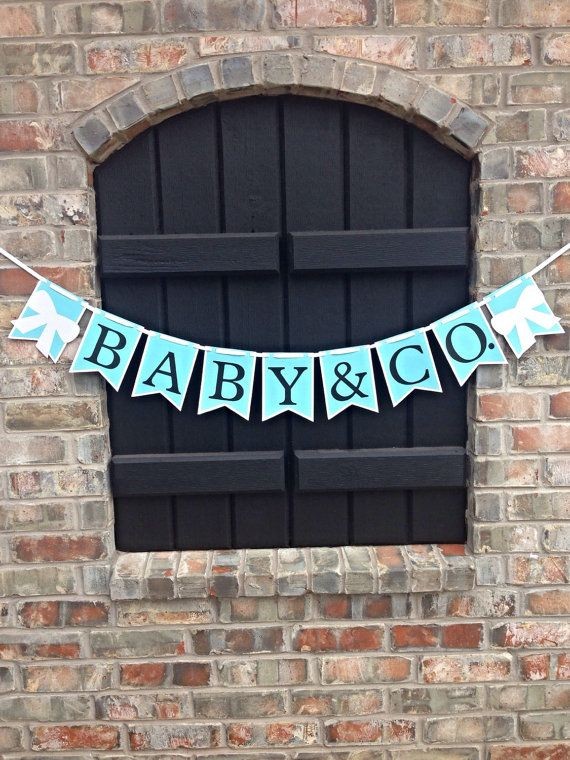 NEW Tiffany Banner~Baby and Co.~Blue and White~Tiffany Baby Shower~Tiffany Blue~Boy~Girl~Bride & Co.~First Birthday~Breakfast at Tiffany's