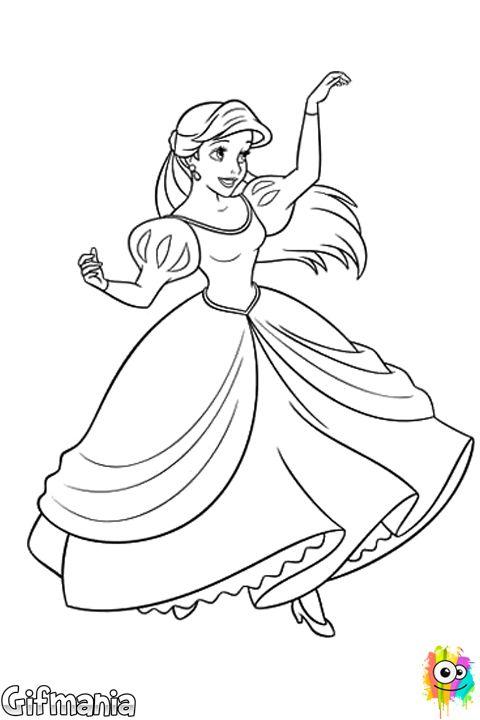princesa Ariel #ariel #lasirenita #disney #dibujo | Macetas ...