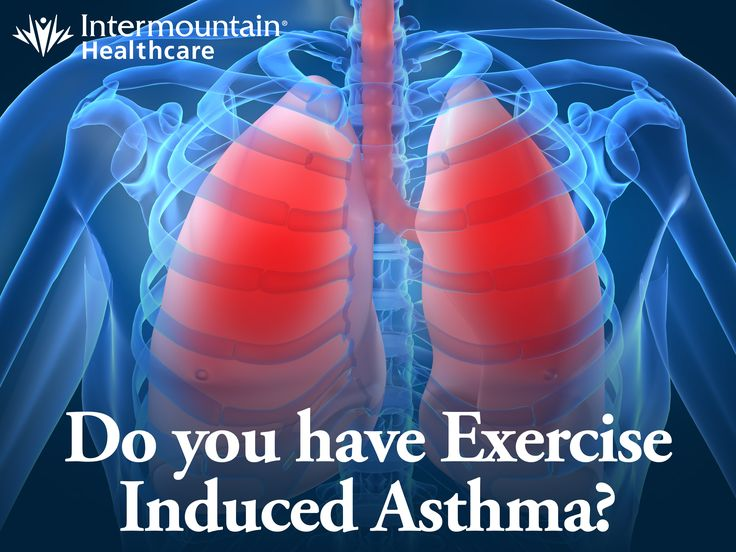 If you experience asthma symptoms during exercise, it's