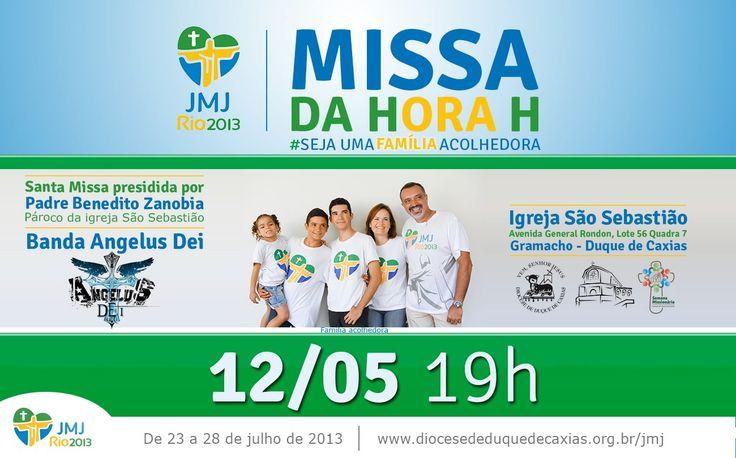 Desenvolvido para a Missa da hora H. JMJ Rio 2013  Cliente: Paróquia São Sebastião - Gramacho
