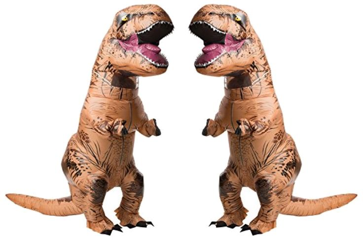 Stop what you're doing. Now think. Think of all the times an inflatable T Rex costume would come in handy in your life. Nearly countless, right? This giant dino costume is so necessary for all special occasions in your life.