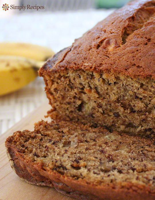 Best Banana Bread! No need for a mixer, anyone can make it. Most popular recipe on SimplyRecipes.com. #easy #baking #quickbread