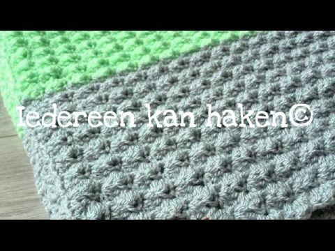 Iedereen kan haken©:Golfjessteek - Blanket stitch leren haken Nederlands voor beginners © - YouTube