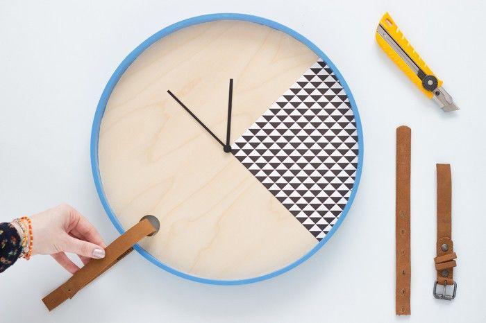DIY wall clock, Ikea hack, by Heju