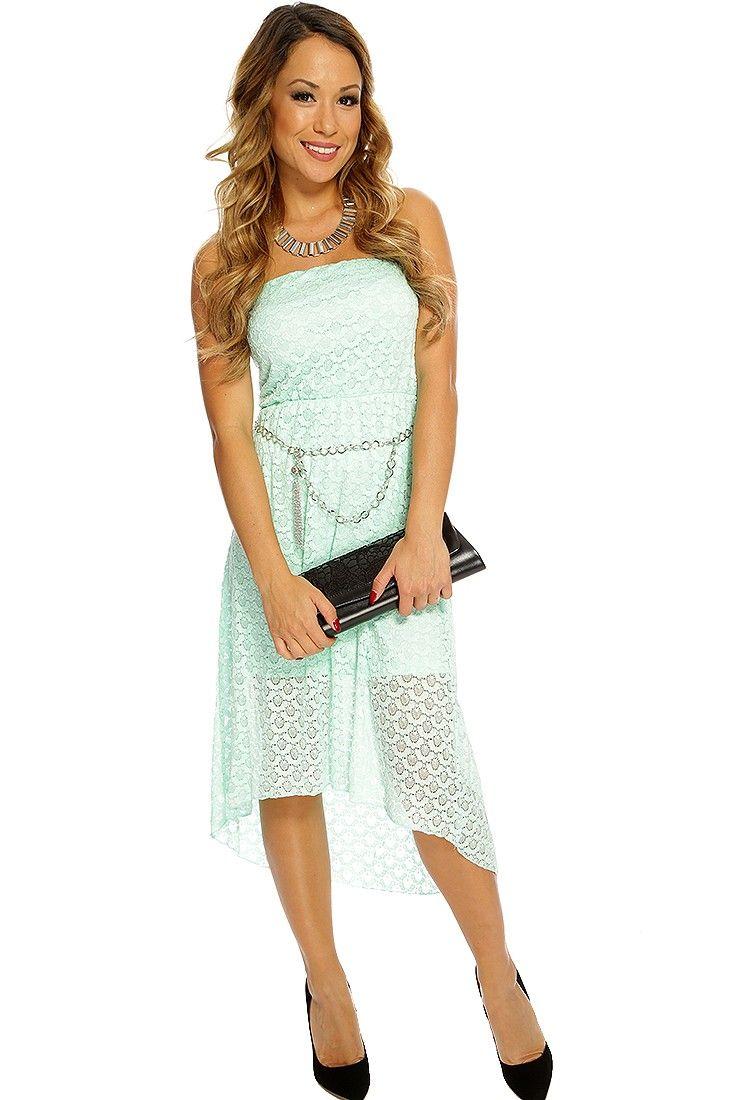 Tween Party Dress Strapless