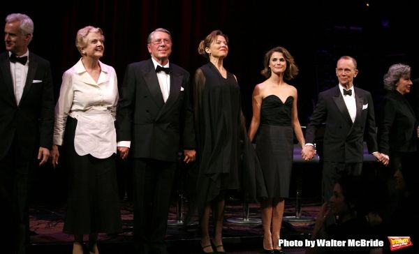 John Slattery, Angela Lansbury, Brian Bedford, Annette Bening, Keri Russell, Joel Grey & Zoe Caldwell.during the Curtain Call for The Actors Fund One Night Only Benefit of ALL ABOUT EVE at the Eugene O''Neill Theatre in New York City..November 10, 2008 @ BroadwayWorld.com
