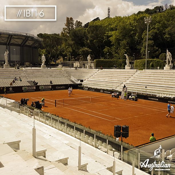 The soul of the Foro Italico in #Rome and in the heart of every ‪#‎tennis‬ lover: the Pietrangeli Stadium. #IBI16