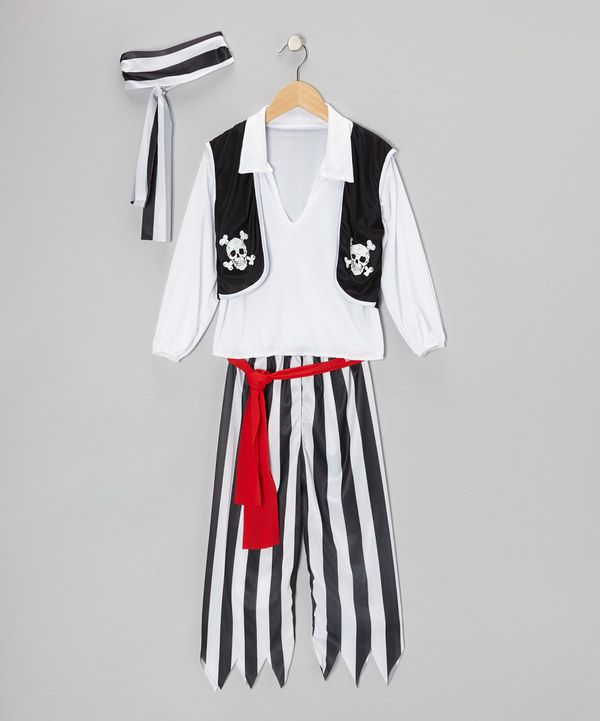 Take a look at this Black Pirate Dress-Up Set - Boys on zulily today!