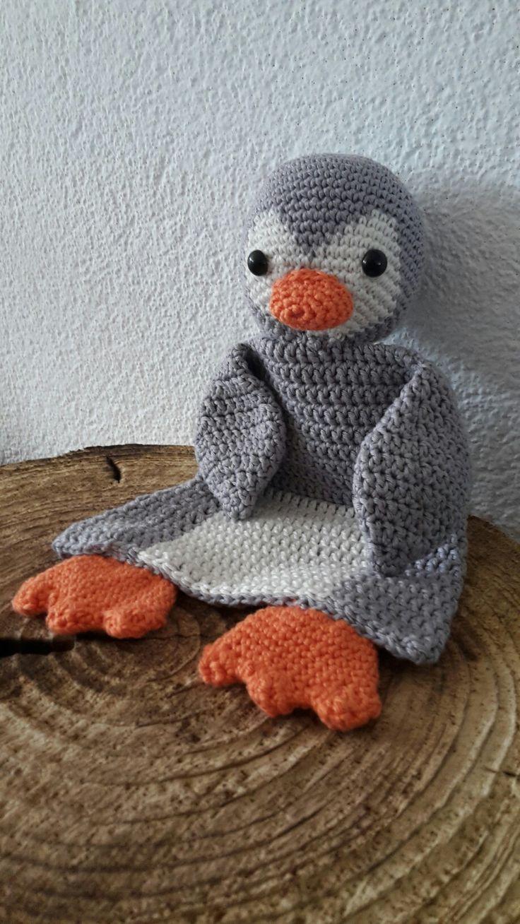 Gehaakte lappenpop  Haken  Pinguïn