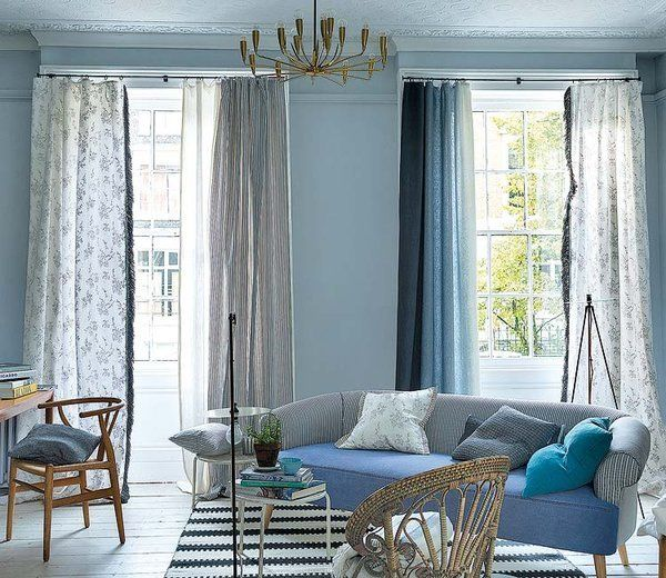 paredes de color azul salones frescos nuevos aires mi casa