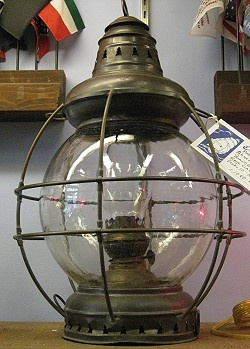 I would love to have this Ship Lantern on the table on my dock for evening use.