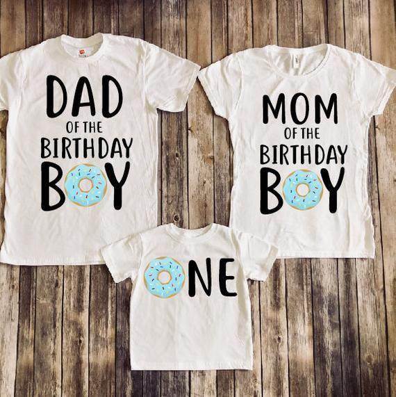 1st Birthday Donut Shirt Donut One Donut Family Etsy Birthday Boy Shirts Monster Inc Birthday Monster Birthday Parties