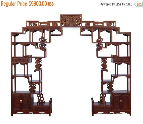 30%OFF SALE Chinese Rosewood Curio Large Display Cabinet Room