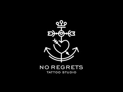 No Regrets - tattoo studio | Logo Design Gallery Inspiration | LogoMix