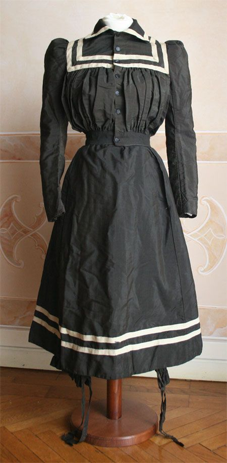 Bathing Costume ca. 1891  No worries about too much sun damage, huh?