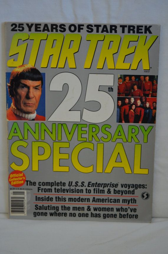 Star Trek 25th Anniversary Special Official by FloridaFindersPaper, $7.00