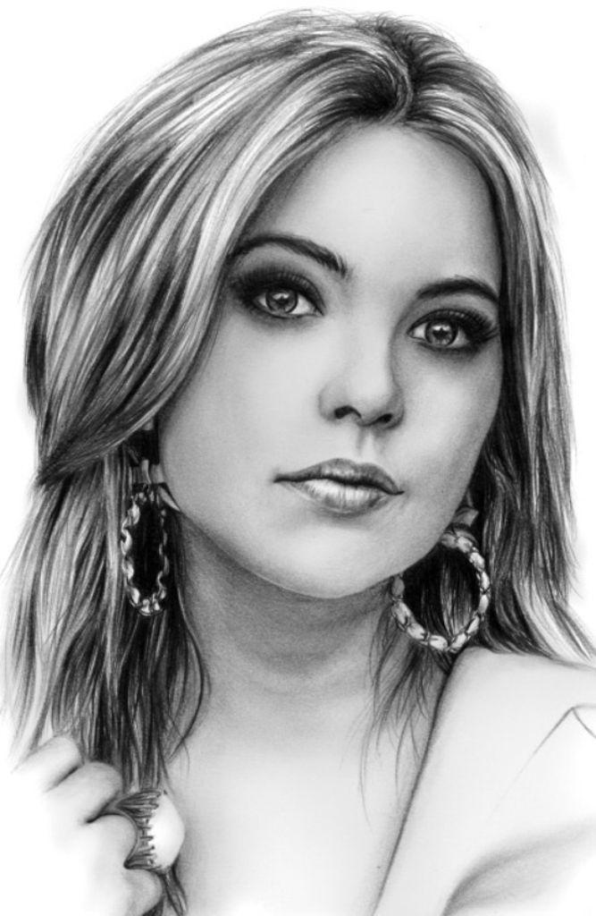 Ultra Realistic Portrait Drawings - Ashley Benson by Tarjus