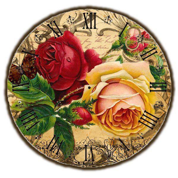 Схема вышивки «часы с розами» - Вышивка крестом