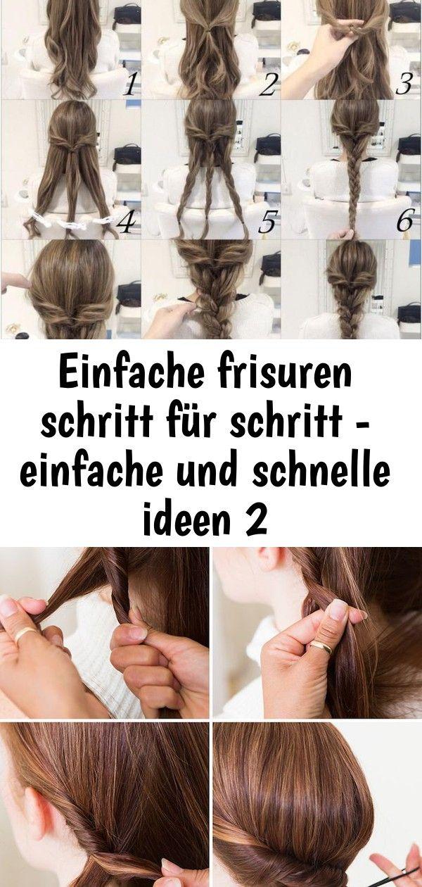 Einfache Frisuren Schritt Fur Schritt Einfache Und Schnelle Ideen 2 Hair Color Hair Accessories Hair Styles