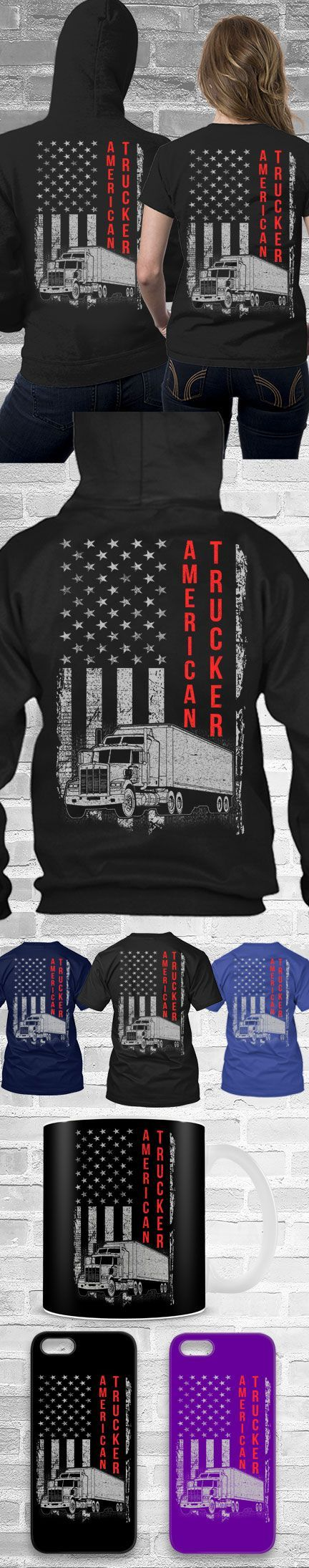 Trucker USA Flag Shirt! Click The Image To Buy It Now or Tag Someone You Want To Buy This For. #trucker