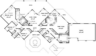 3 Bedroom Single Floor House Plans likewise Home Plans in addition Angled Garage One Story House Plans also  on ranch house plans with 3 car garage bat