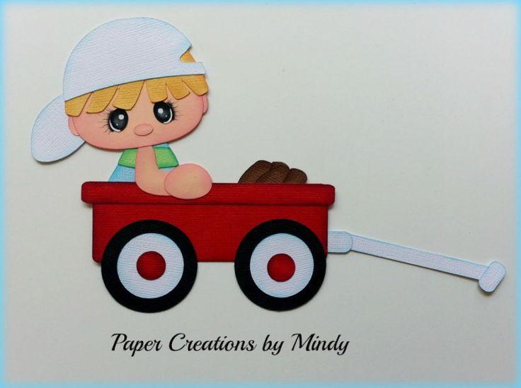 Craftecafe Mindy verano niño Vagón prefabricados juntar las piezas de papel para la página de álbum de recortes