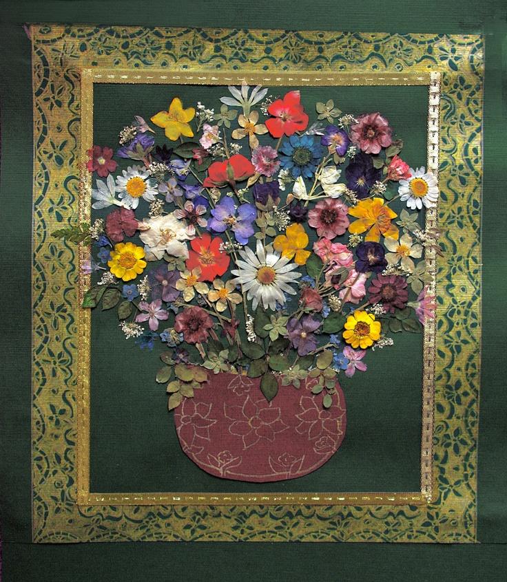 Pressed Flower art.