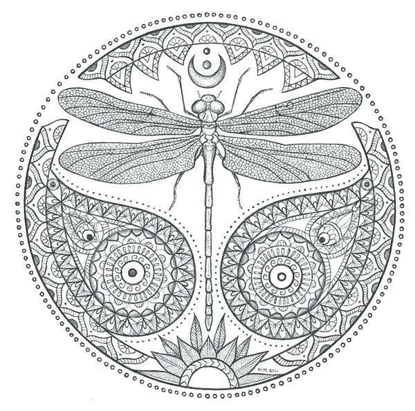 Coloring Rocks Mandala Coloring Pages Dragonfly Drawing Mandala Coloring