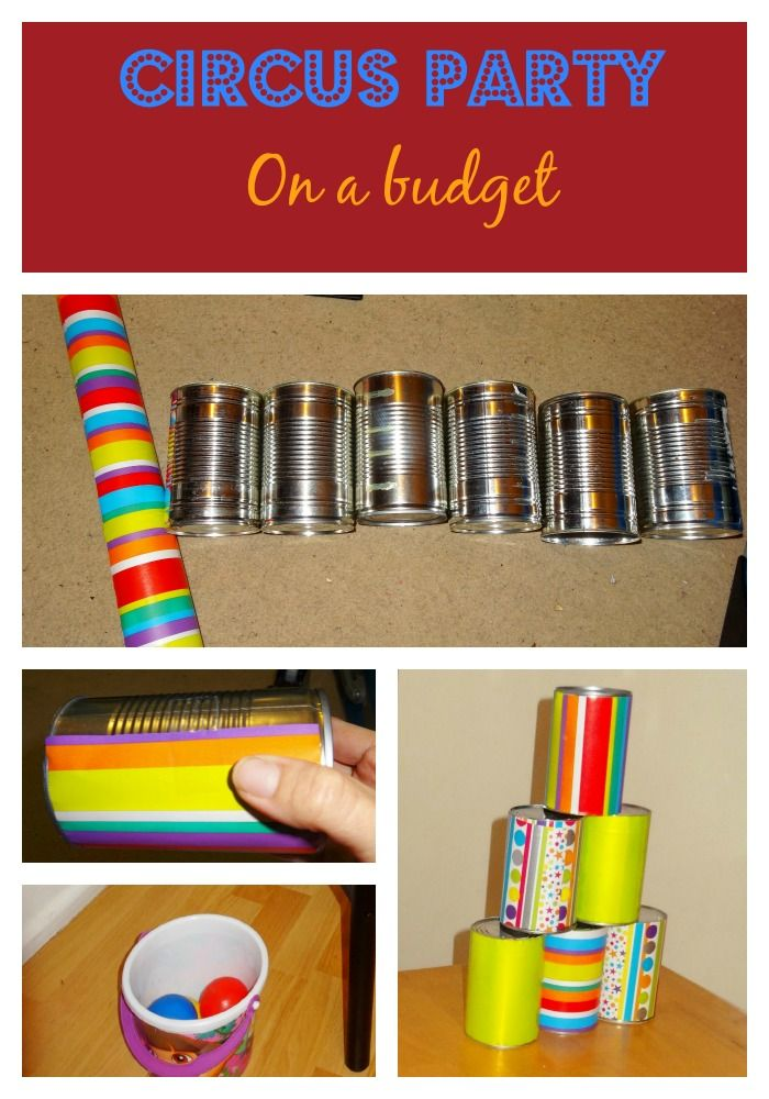 Throw a Circus Party on a budget that won't break the bank! Entertainment idea's using what you have around the house