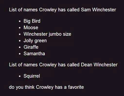 """Not true, he has Dean in his phone as """"Not Sam"""""""