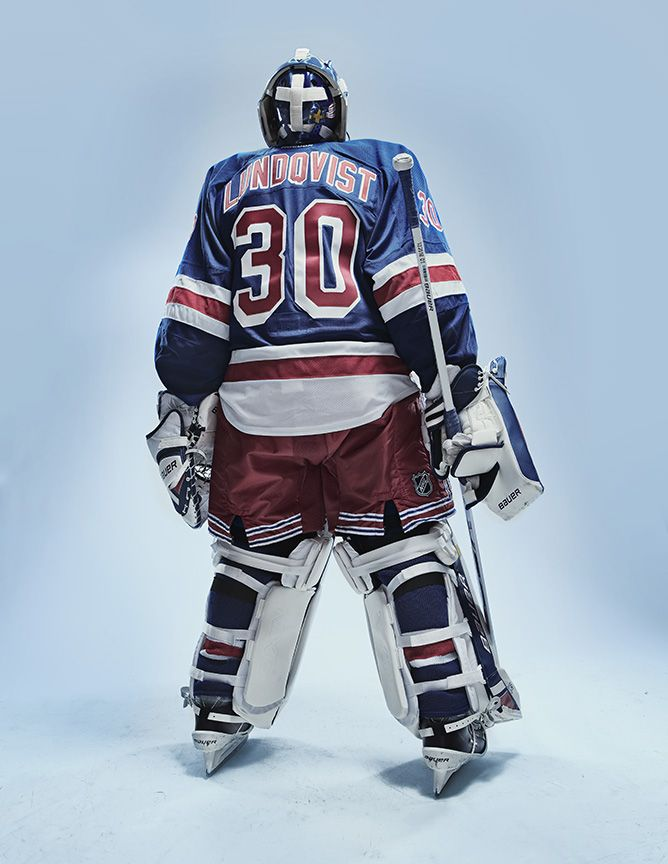 Henrik Lundqvist of the New York Rangers by KC Armstrong