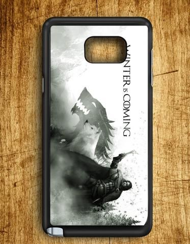 Winter Is Coming Wolf Samsung Galaxy Note 5 Case
