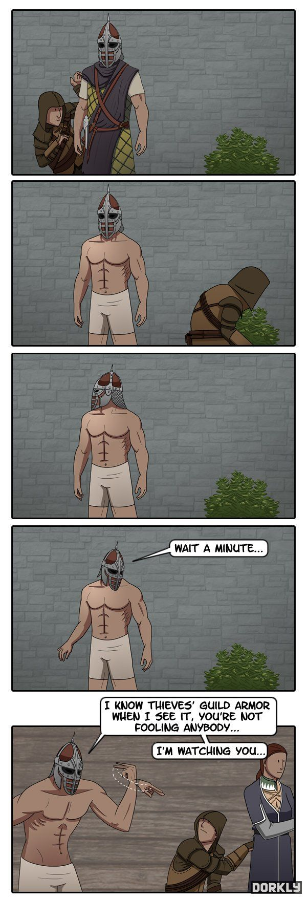 To Catch a Skyrim Thief - my character would've just taken everything and they don't even turn around