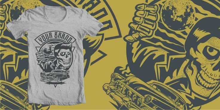 """MIDNITE GREASER"" t-shirt design by plaju"