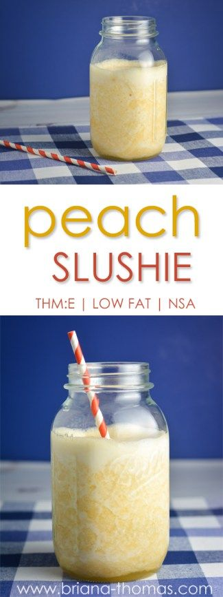Peach Slushie - Trim Healthy Mama (THM) E - low fat - no sugar added - gluten free - egg free - dairy free - nut free