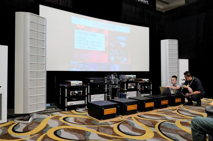Datasat and D'Agostino electronics with Wisdom Audio loudspeakers