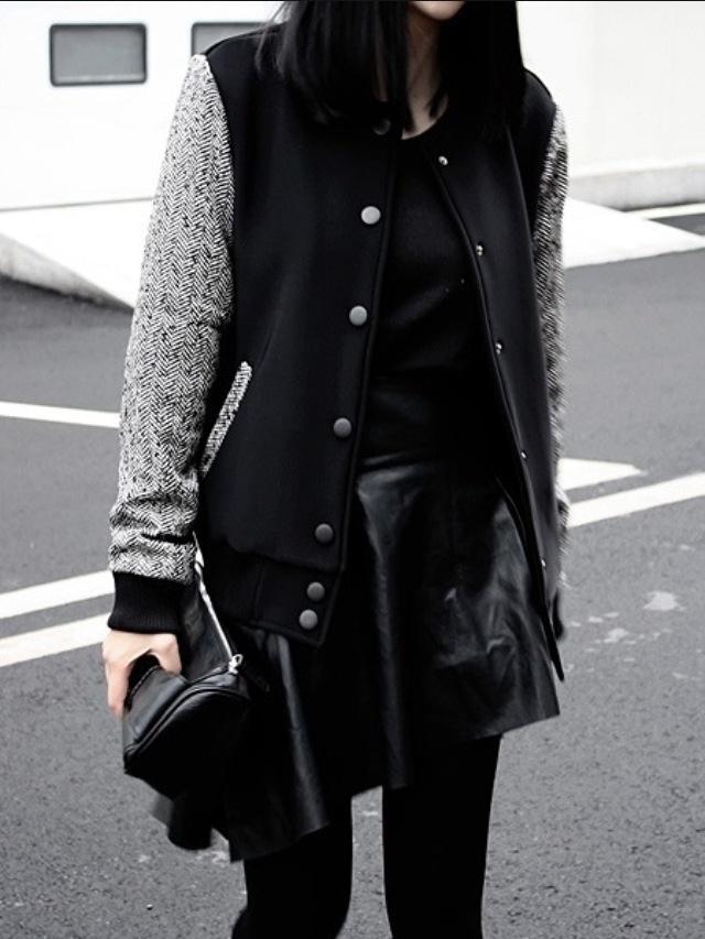 Varsity jacket perfection.