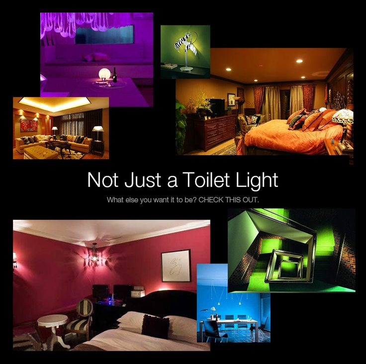 Digoo DG-TL250 Intelligent 8 Color Body Sensor Motion Detection Activated LED Toilet Night Light