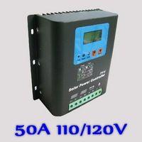 50a 110 v lub 120 v regulator ładowania słonecznego, 110 v lub 120 v 50a baterii regulator dla 6000 w modułów pv panele słoneczne, Wyświetlacz led i lcd