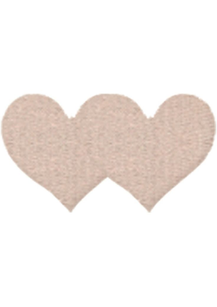 Buy Nude Satin Heart - 2pk online cheap. SALE! $8.99