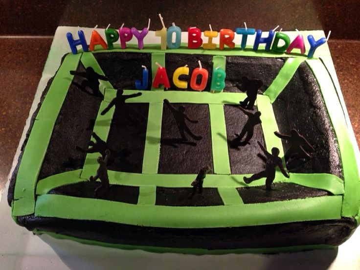 Trampoline Ice Cream Cake